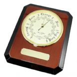 Personalised Barometer, Two Tone Wood Finish ref TTB01